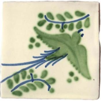 10.5cm Handpainted Tile - M047
