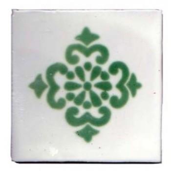 10.5cm Handpainted Tile - M066