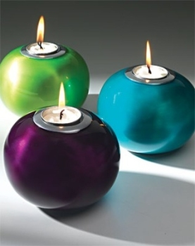 Enamelled Aluminium Tea Light Holder