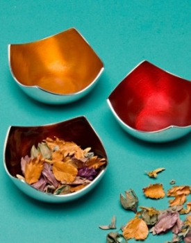 Enamelled Aluminium Autumn Small 4-Point Bowl