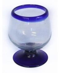 Brandy Glass - Blue Rim