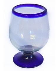 Brandy Glass XL - Blue Rim