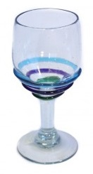 Wine Glass - Coloured Rings