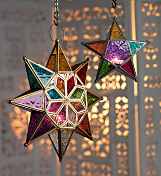 Tealight Lantern - Glass Star