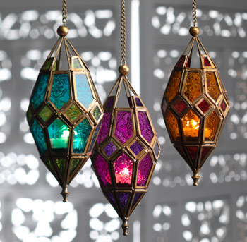 Tealight Lantern - Long Glass