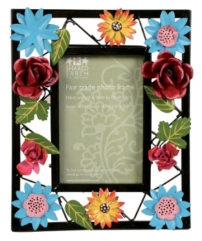 Painted Metal Flower Frame