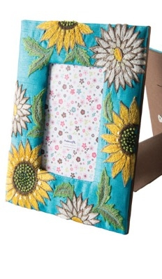 Embroidered Sunflower Frame