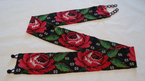 Hand-beaded Belt 1