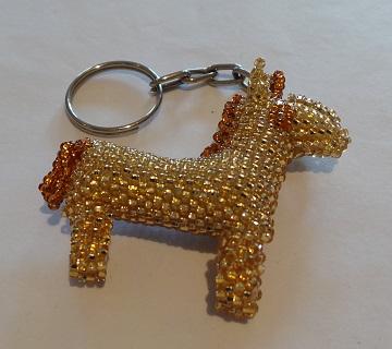 Golden Horse Keyring