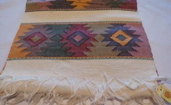 'Eye of God' Style Hand-woven Runner - Natural