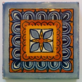 10.5cm Handpainted Tile - 19*