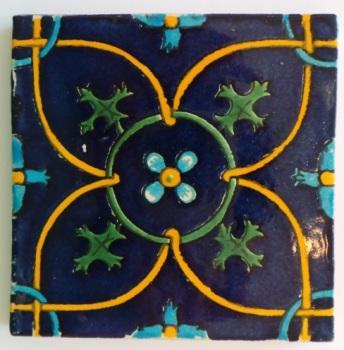 10.5cm Handpainted Tile - 25*