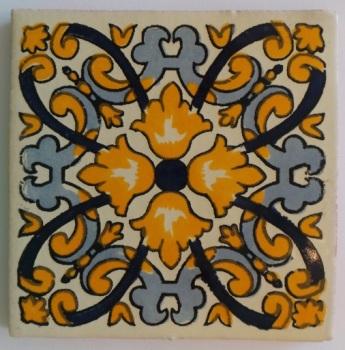 10.5cm Handpainted Tile - 28*