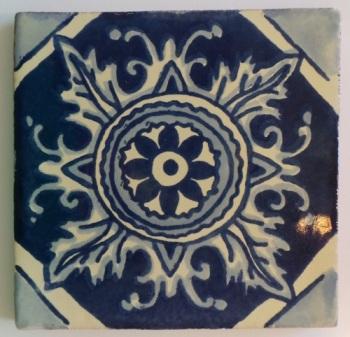 10.5cm Handpainted Tile - 29*