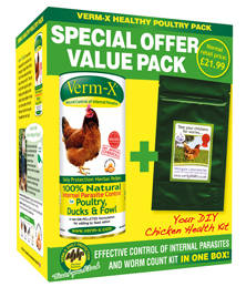 Verm-X Healthy Poultry Pack - 250g pellets & worm count kit