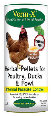 Verm-X Pellets for Poultry 250g