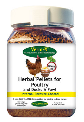 Verm-X Pellets for Poultry 4kg