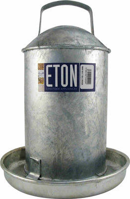 Galvanised traditional drinker - 2 Gallon