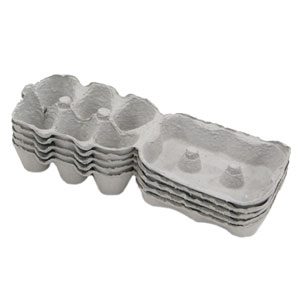 Half Dozen Grey Egg Boxes - Pack of 12