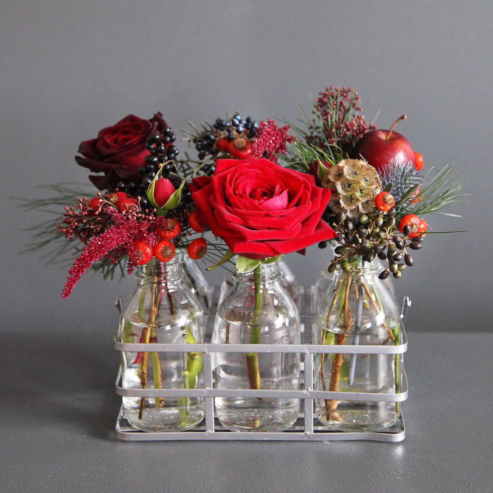 Festive Crate of flowers