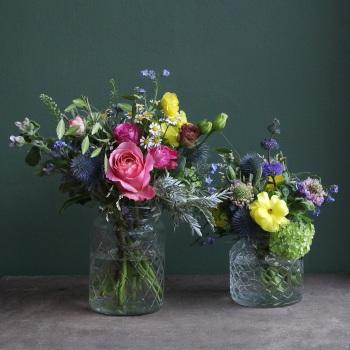 Vibrant Flower Jars
