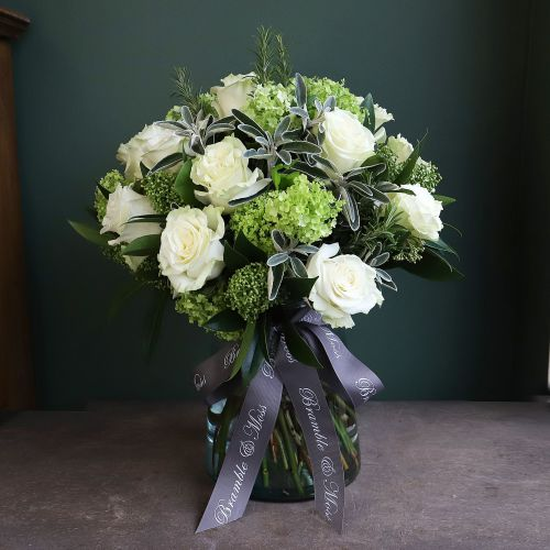 e. Two Dozen White Roses