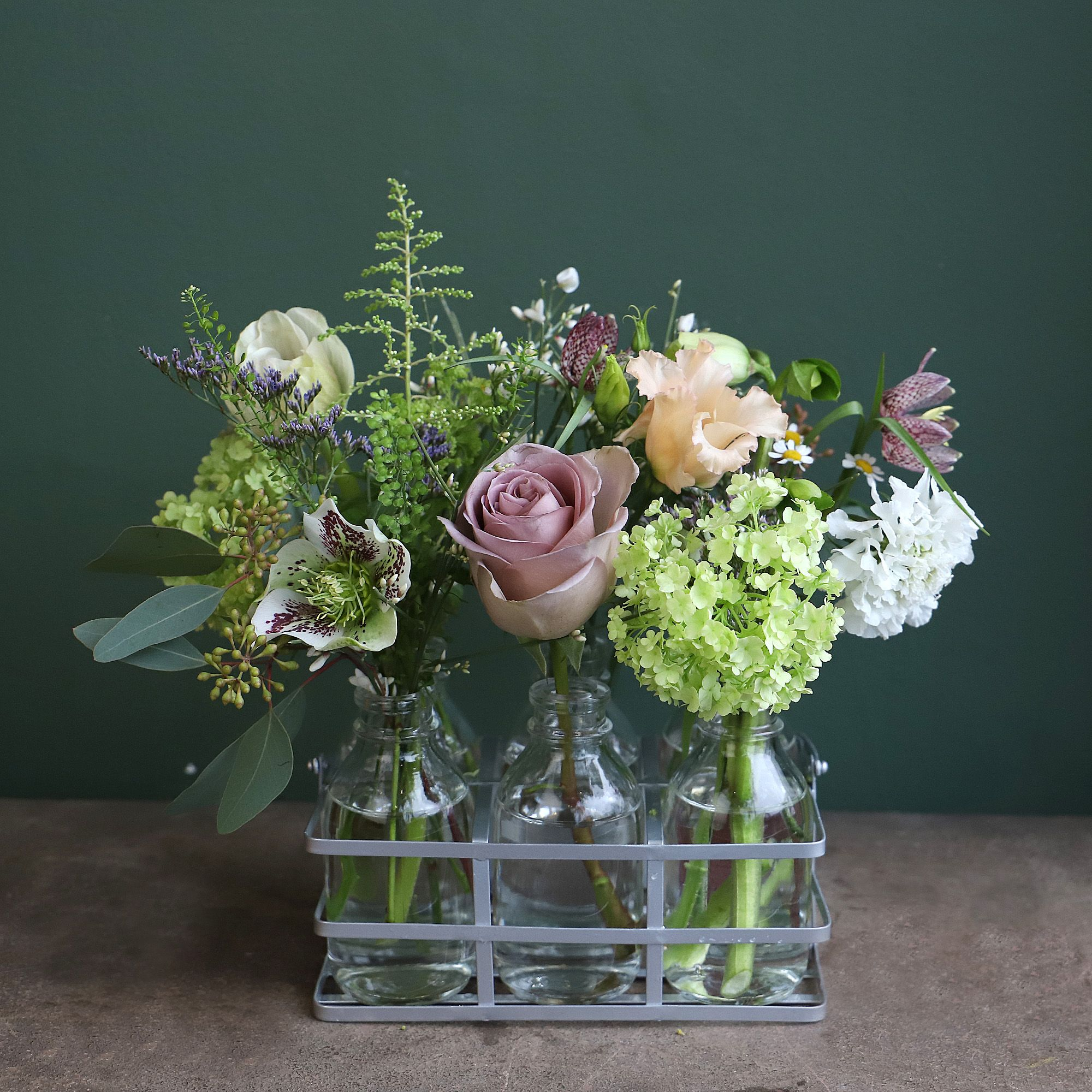 Wild crate of flowers