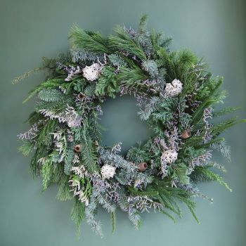 o. First Frost Door Wreath  - 2 sizes available