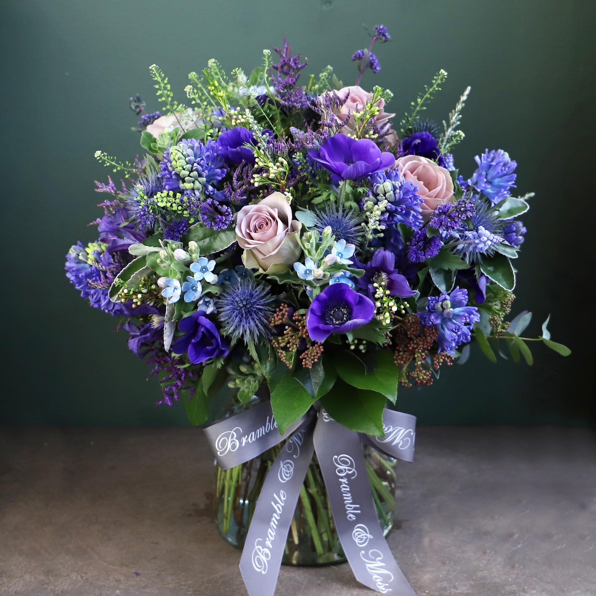 True Blue with Vase
