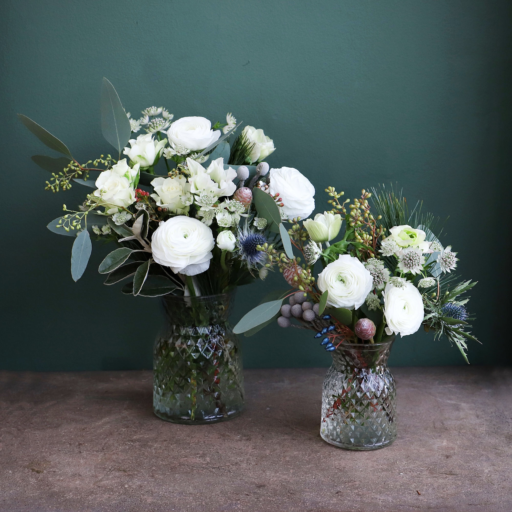 Set of Jars - White
