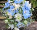 Blue and white shower bouquet
