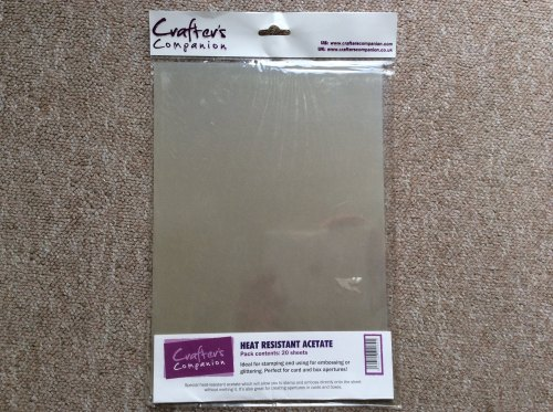 Crafters Companion Heat resistant Acetate 20 sheets