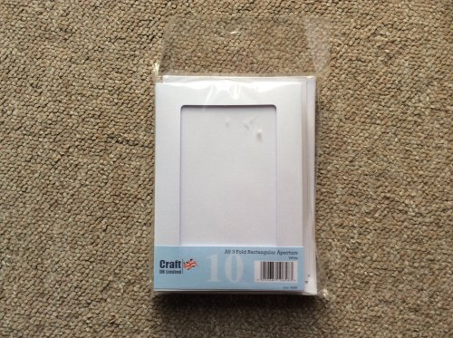 Craft Uk Ltd A6 3 fold Rectangular Aperture White Cards and envelopes pk of 10 10658