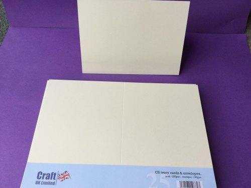 Card & Envelope pks C5 Ivory pk of 25 cards-300gsm, env-100gsm  line no864