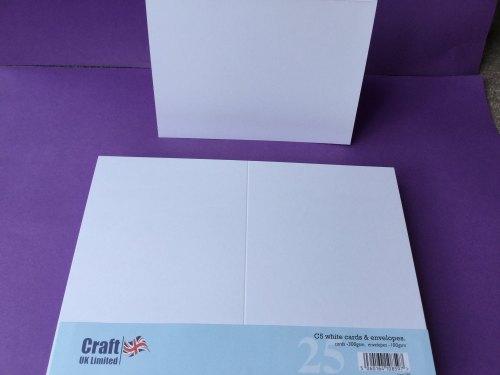 Card & Envelope pks C5 White pk of 25 cards-300gsm,env-100gsm  line no 297