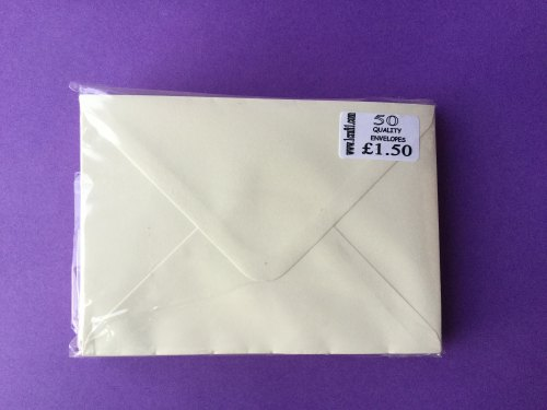 ENVELOPES CREAM C6 --  6 1/4
