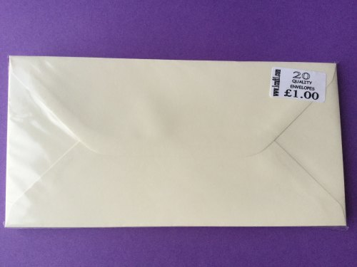 ENVELOPES CREAM DL 8 3/4