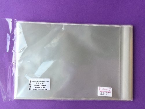 CELLO BAGS STRIP SEAL 7.5