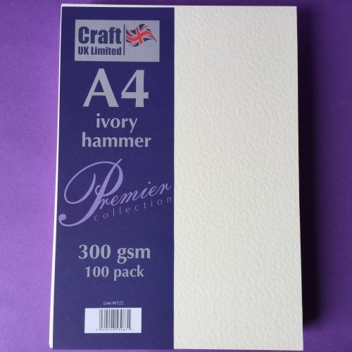 A4 Ivory Hammer 300gsm 100 sheets