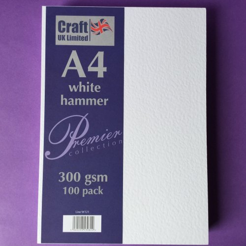 A4 White Hammer card 300gsm 100 sheets