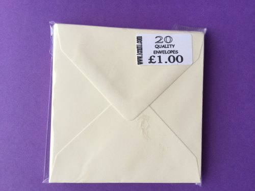 ENVELOPES CREAM 4X4 (98MM x 98MM)  pk of 20