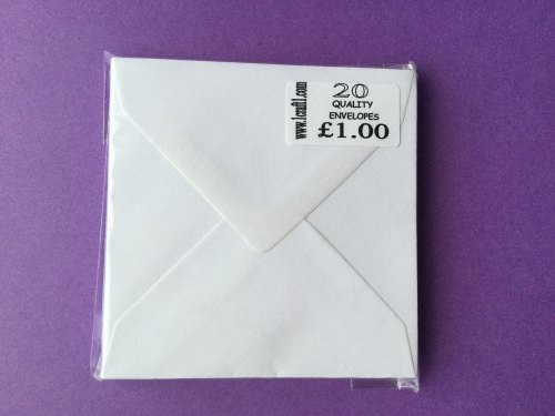ENVELOPES WHITE 4x4 (98MMx98MM) PK OF 20
