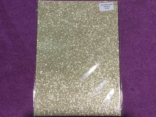 A4 Glitter Card Champagne pk of 2
