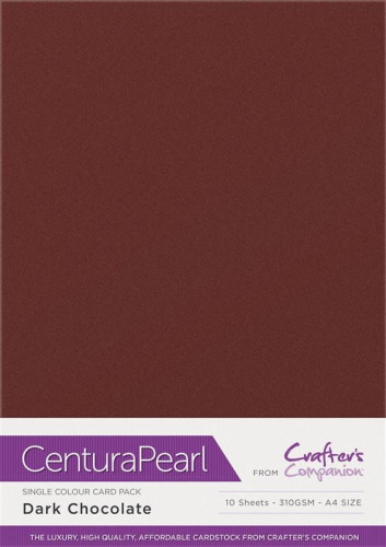 Crafters Companion Centura Pearl Dark Chocolate pk of 10