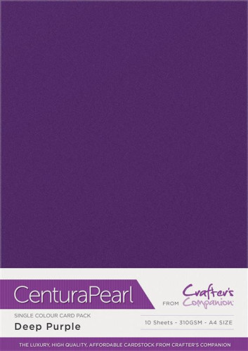 Crafters Companion Centura Pearl Deep Purple pk of 10