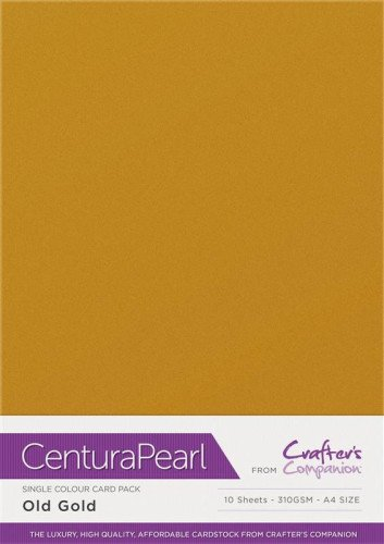 Crafters Companion Centura Pearl Old Gold pk of 10