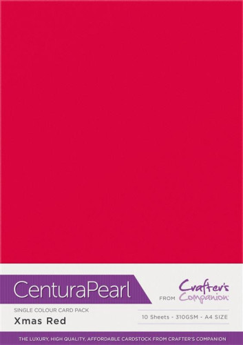 Crafters Companion Centura Pearl Xmas Red pk of 10