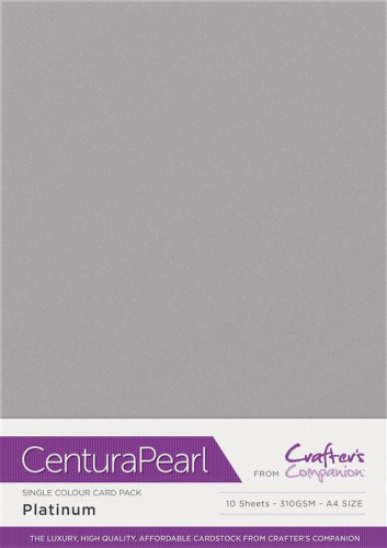 Crafters Companion Centura Pearl Platinum pk of 10