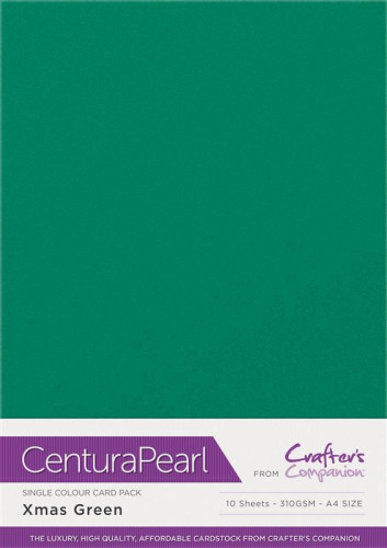 Crafters Companion Centura Pearl Xmas Green pk of 10