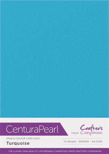 Crafters Companion Centura Pearl Turquoise pk of 10